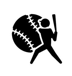 Ball player baseball sport design vector