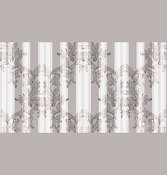 Baroque pattern shiny background vintage vector