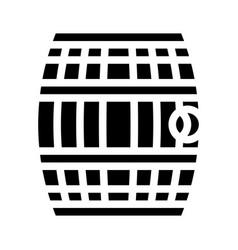 Barrel with gunpowder or rum glyph icon vector