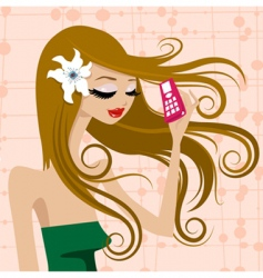 beauty girl vector image