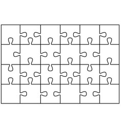 Blank jigsaw vector