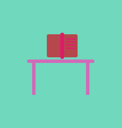 Book and table vector