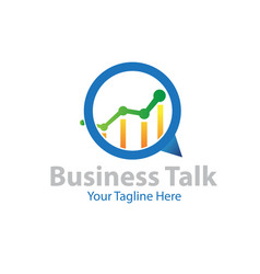 business talk logo designs vector image