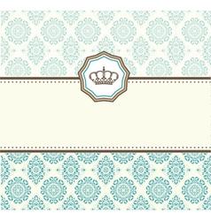 card baroque vector image