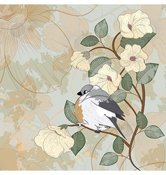 card with bird can be used for website decoration vector image