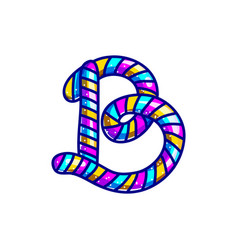 carnival candy cane font vector image