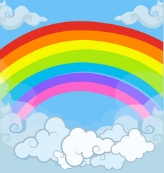cartoon of magical magical landscape rainbow in vector image