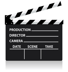 Chalkboard movie director slate vector