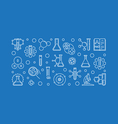 chemistry concept banner or in vector image