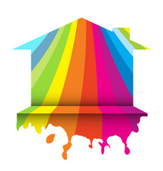 color home paint vector image
