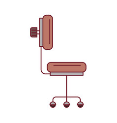 Colorful graphic of office chair side view with vector
