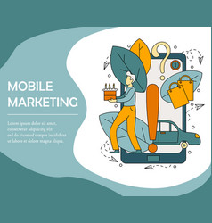 concept of mobile marketing vector image