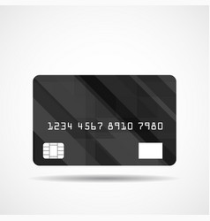 credit card icon with abstract geometric design vector image