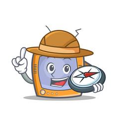 explorer tv character cartoon object vector image