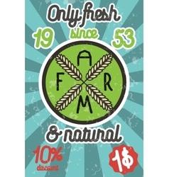 Farm colorful banner vector