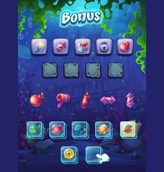 fish world bonus screen vector image