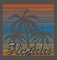 Florida abstract background vector