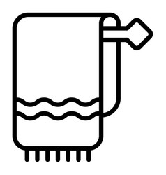 fresh towel icon outline style vector image