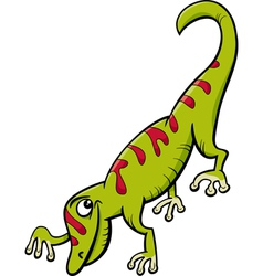 Gecko reptile cartoon vector