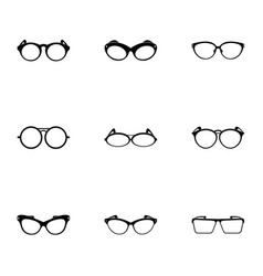 Glasses icons set simple style vector