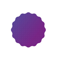 gradient purple badge or label template with dots vector image