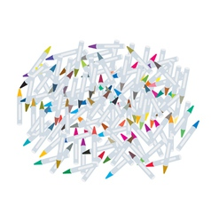 Group of Wax Crayons on White Background vector image