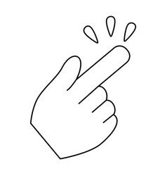 hand click cursor symbol vector image