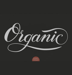 hand drawn lettering - organic elegant modern vector image