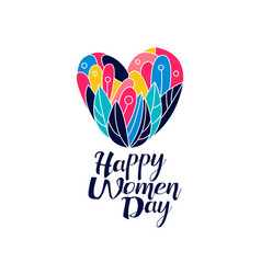 happy women day logo creative template for vector image