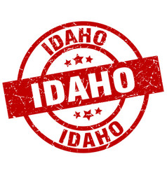 Idaho red round grunge stamp vector