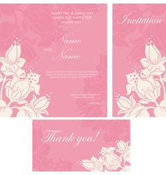 Invitation floral card vector