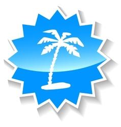 Island blue icon vector