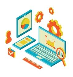 Isometric design modern concept of website vector image