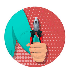 item in the man s hand-04 vector image