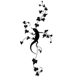 ivy and lizard vector image