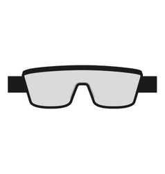 laboratory goggles isolated icon design vector image