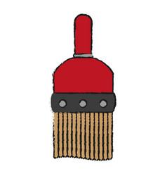 large paint brush icon image vector image