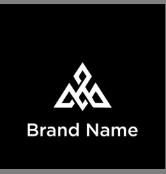Letter ma simple arrow linked geometric logo vector