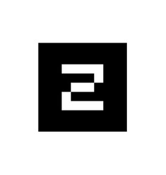 letter z logo icon combined with black square vector image