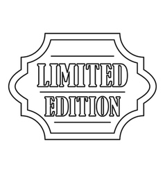 Limited edition label icon outline style vector