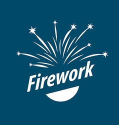 logo abstract white fireworks vector image