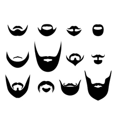 Men silhouette shapes of beards and vector