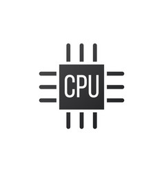microchip icon cpu central processing unit vector image