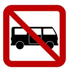 No minibus sign vector