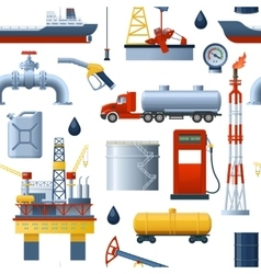 Oil Industry Pattern vector image