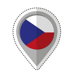 pin location czech republic flag icon vector image