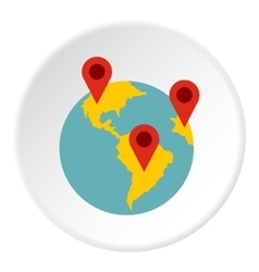 Planet GPS signs icon flat style vector image