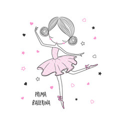 Prima ballerina surface design for kids vector