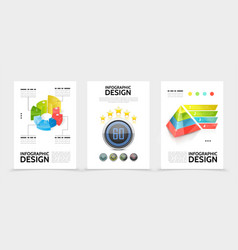 realistic infographic elements posters vector image