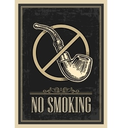 Retro poster - The Sign No Smoking in Vintage vector